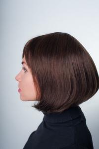 Стильный натуральный парик боб-каре T.M.S. New Vision